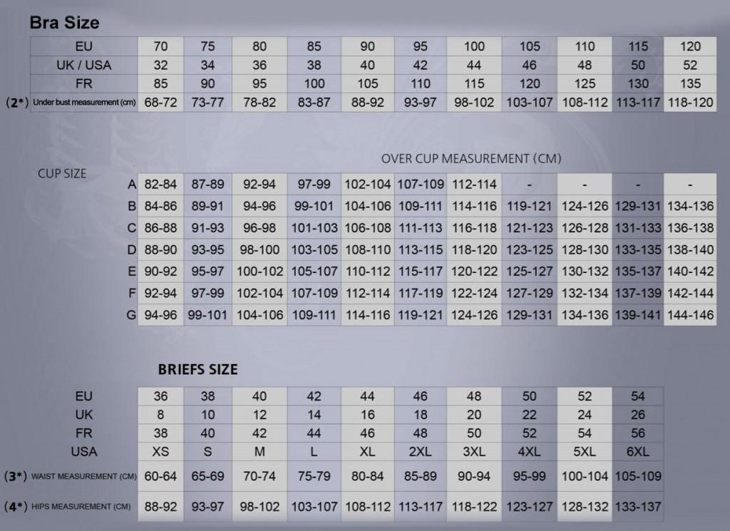 JOR size-chart